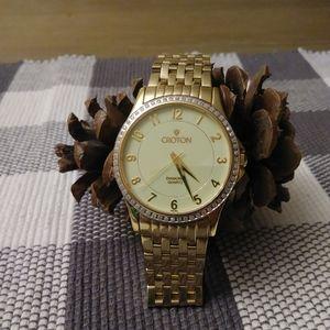 Croton watch w diamond quartz